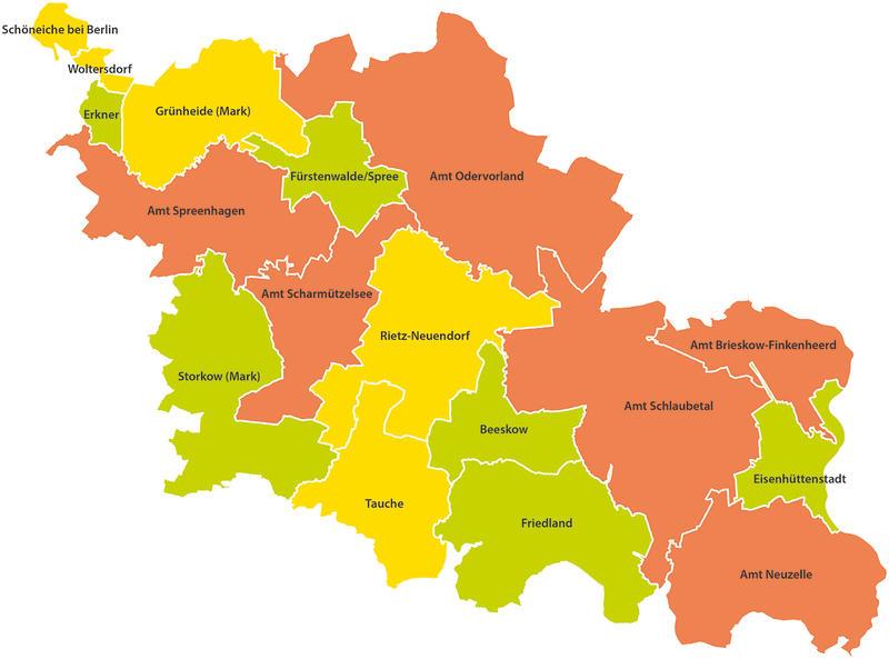 Spree Karte.Landkreis Landkreis Oder Spree