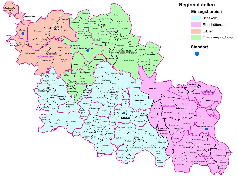 Spree Karte.Regionalstelle Storkow Des Jobcenters Oder Spree Schliesst